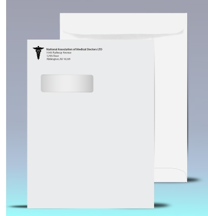 X Printed Catalog Window Envelopes Color Print Black P - 9x12 envelope printing template