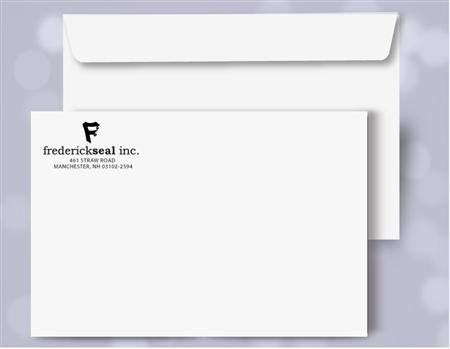10 x 13 booklet envelopes 1 color print black 30060p for 10 x 13 window envelope
