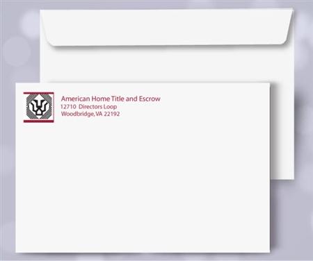 10 x 13 booklet envelopes black 1 pms color print 30060p2 for 10 x 13 window envelope